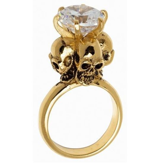 Picture of Four Skulls Ring (Clear)