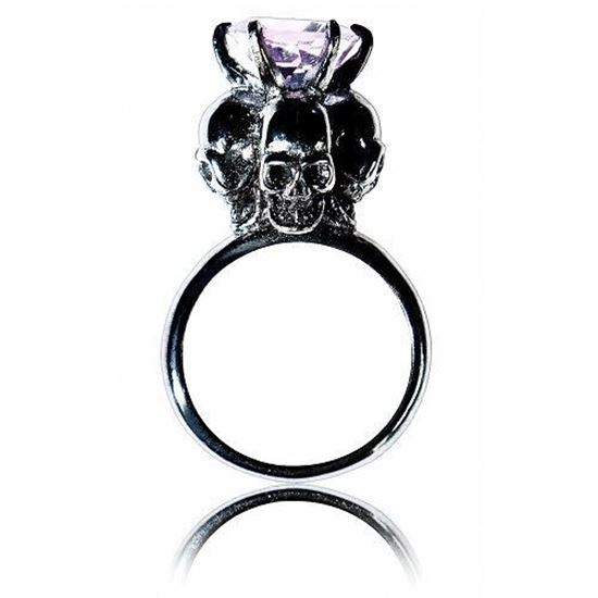 Picture of Four Skulls Ring (Purple Amethyst)